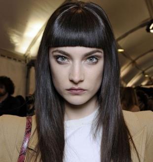 Холодный цвет волос на длинные волосы, темно-шоколадный цвет волос