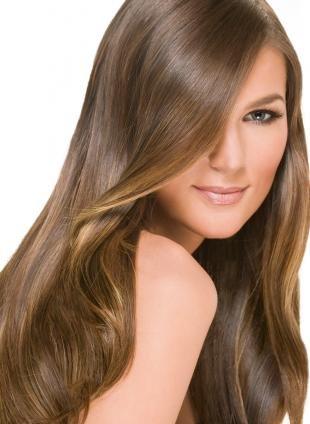 Цвет волос молочный шоколад, русые волосы с рыжим оттенком
