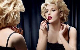 Яркий макияж для серых глаз, яркий вечерний макияж в стиле ретро