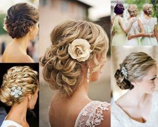 Свадебные прически с цветами, свадебные прически на средние волосы - множество великолепных вариантов