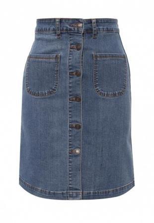 Джинсовые юбки, юбка джинсовая miss bon bon, весна-лето 2016