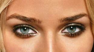 Макияж для глубоко посаженных глаз, макияж для серых глаз с перламутровыми тенями
