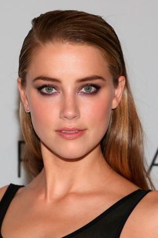 Темный макияж для зеленых глаз, блестящий фиолетовый макияж глаз