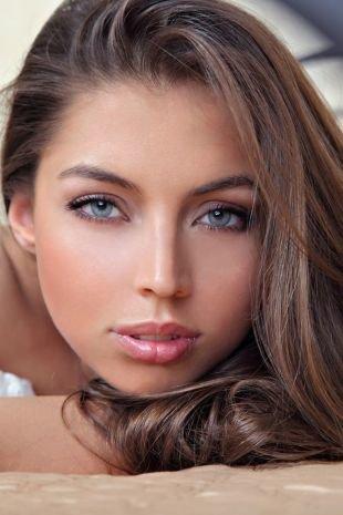 Свадебный макияж для круглого лица, легкий лтний макияж
