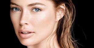 Макияж для брюнеток с голубыми глазами, легкий макияж в стиле нюд
