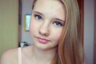 Легкий макияж на каждый день для подростков, макияж на 1 сентября для серо-голубых глаз