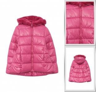 Розовые куртки, куртка утепленная sisley, осень-зима 2016/2017