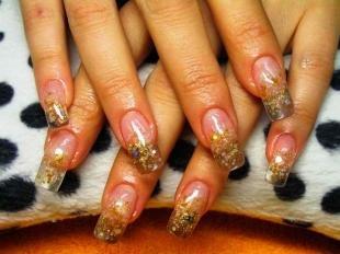 Аквариумный дизайн ногтей, новогодний маникюр на нарощенные ногти