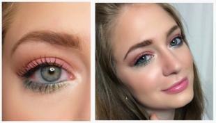 "Яркий макияж, макияж глаз для цветотипа ""весна"""