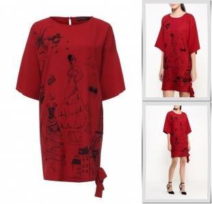 Бордовые платья, платье joymiss,