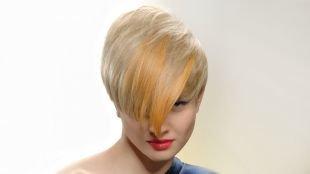 Жемчужно пепельный цвет волос, модное окрашивание коротких волос