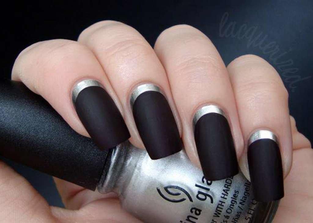 Черные нарощенные ногти