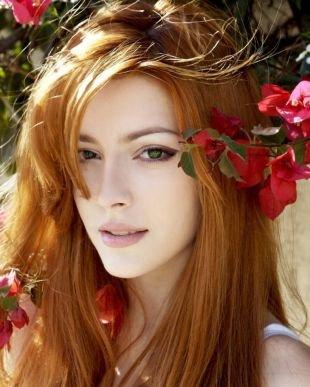 Макияж для зеленых глаз, естественный макияж для зеленых глаз и рыжих волос