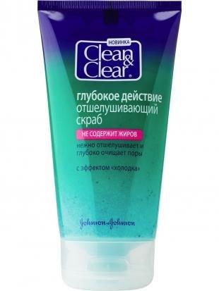 Скраб Clean Clear, clean&clear глубокое действие отшелушивающий скраб  150мл