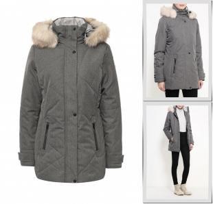 Серые куртки, куртка утепленная torstai, осень-зима 2016/2017