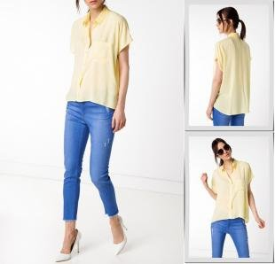 Желтые блузки, блуза defacto,