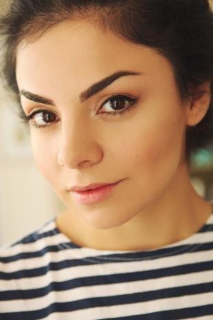 Макияж для больших карих глаз, естественный макияж для карих глаз