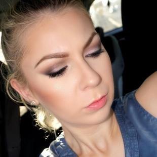 Свадебный макияж для маленьких глаз, безупречный вечерний макияж для серых глаз