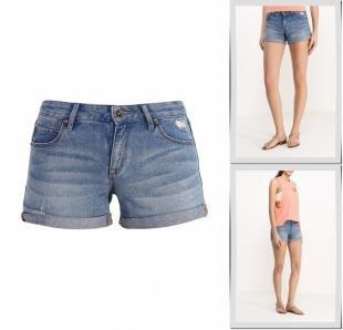 Голубые шорты, шорты джинсовые roxy, весна-лето 2016