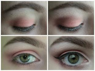 Свадебный макияж для маленьких глаз, персиковый макияж для зеленых глаз