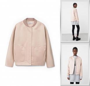 Розовые куртки, куртка mango, осень-зима 2016/2017
