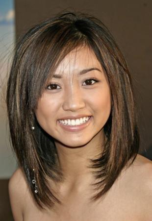Стрижки и прически на средние волосы, красивая стрижка для ровных волос