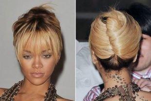 Прически с челкой на средние волосы, прическа ракушка для средних волос с челкой